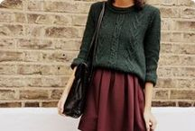 Forest Green / Key colour for A/W - some inspiration on wearing it.
