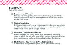 Monthly To-Do Checklists / Monthly checklists to help keep you on track and organized.