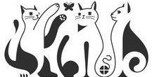 Эскизы: кошки, тигры, львы