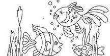 Эскизы: море и его обитатели