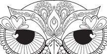Эскизы: совы