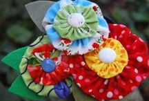 F is for Fabric Flower / Roses are red, violets are blue, fabric flowers to make for you.