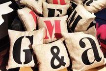 #fifiletters by Gizem & Nil Esgin  #cushion#pillows / Design decoration,letters