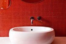 ¡Haz tu baño color rojo! / ¿Siempre has soñado con un baño con tonos rojizos? ¡Éste tablero es para ti, inspírate con nuestras ideas!