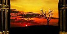 At sunset-o zachodzie słońca