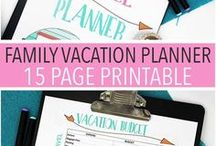 Travel Planning / Tired of running around the house frantically making sure everything is packed and everyone is ready before you go? Here, we offer ideas, templates, printables, checklists, vacation planners and even apps to keep in mind, while you prepare for and experience a seamless, stress free family vacation. Plan your next family vacation with ease, with the help of our Travel Planning board!