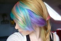Candy Colored Hair Dreams / Compensating for my own boring hair. ;) / by Jen Yates