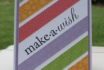 """Cards, Using """"Scraps or Stashed Papers""""  / by Susie Mills"""