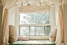 Reading Nooks / I love to read books, and I love to carve out nooks.  Take a look.