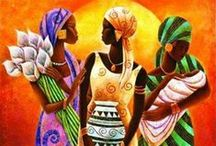 Art: African / if you know  the artist for any painting not identified...please leave  artist's name in a comment so I may credit  it to them. Thanks. / by LindaDavid Hardison