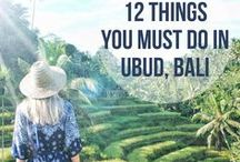 12 Things you absolutely must do in Ubud, Bali / Ubud manages to reflect the unique Balinese way of life whilst oozing charm and a low-key vibe that is irresistible. It is a health food lovers paradise! The village has many restaurants, museums, spa's, yoga studios, art galleries and shops full of local arts, craft and clothing. Ubud has something for everyone!
