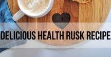 Health Rusk Recipe / As South Africans, one of our favourite things to have with a cup of tea or coffee is a rusk. This is a recipe that Jenna's (the Blonde) mom has made for many years, so when we make it here in Australia it reminds us of home.