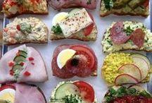Chlebíčky, zdobení, dekorování jídla