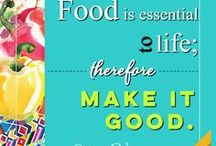 Food Love Quotes / We have a thing for food, how about you? This is devoted to #realfood #foodlove quotes to inspire us to #BringLifetoYourTable! Check out our healthy cooking sauces at www.MesadeVida.com
