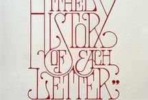 Typography / by I Heart Flowers