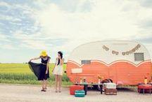 Vintage camper / matkailuvaunu, asuntuvaunu, karavaani