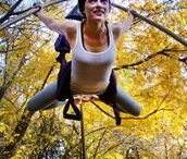 Swing Yoga / We Fly. High in the Sky. See our products in action. For aerial yoga, inversion therapy, back care, and much more!