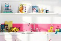 Kitchen / keittiö, sisustus, värikäs keittiö