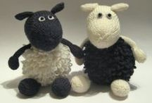 Knitting - Sheep / We have a cute Border Collie, and I love to knit, so SHEEP are one of my favorites