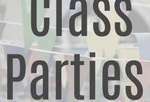 Classroom Parties / The best roundup of ideas for classroom parties.  From Halloween to Christmas to Valentine's Day, this will be an indispensable Mom-guide as you plan!