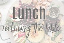 LUNCH: Reclaiming the Table / The best fare for the middle meal of the day.  Lunch can be oh-so-much-more than a boring turkey sandwich! From paninis to creative wrap fillings, we'll help you get an exciting lunch on the table.