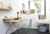 The Modern Home Office / Envision yourself in an office or study furnished with Ligne Roset. Here we highlight categories of pieces you can use to create your perfect office or study.  Our desks are notable for their uniqueness, but what they all have in common is their smart design, which will hide or highlight your books, computers, and other office supplies.
