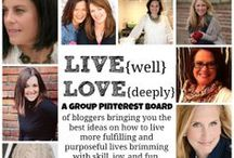 LIVE {well} LOVE {deeply} / There are only so many minutes in our day.  We are on a mission to use that time to it's fullest potential.   The contributors here are bloggers who have joined hands to bring you the best ideas on how to live more fulfilling and purposeful lives brimming with skill, joy, and fun!