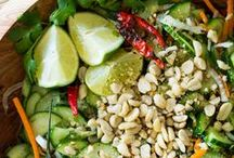 comida: ensaladas (salads) / Salads! Cold, warm, vegetable and grain salads! My general food board was too big to manage so here we're covering salads. / by A Estrella