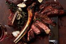 comida: carnes (red meat) / Lamb, beef, buffalo and other red meats / by A Estrella