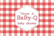 trend alert: baby-q barbecue baby shower / Want a laid-back baby shower? A co-ed Baby-Q or barbeque baby shower may be more your style!