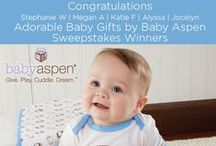 """Pin to Win Sweepstakes: Adorable Gifts that Wow from Baby Aspen / We're giving away five $100 giftcards to babyaspen.com! Enter the Adorable Gifts from Baby Aspen Sweepstakes and start pinning your favorite baby gifts with inspiration from our """"Adorable Gifts that Wow from Baby Aspen"""" board for a chance to win. Visit http://sweeps.piqora.com/babyaspen for more information.  #babygiftsbybabyaspen"""