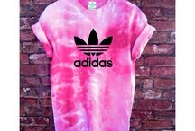 Tie dye and fabric spray paint
