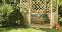 Wooden Gazebos / Liveoutside design, manufacture and install the largest variety of wooden gazebos in the UK today. From 6ft to 26ft! All of our high quality garden gazebos are treated to ensure a longer life and have a 10 year guarantee against decay.