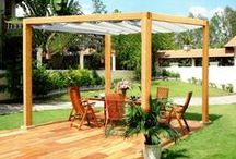 Garden Conopies / Relax and enjoy your garden with a garden canopy.  Liveoutside canopies allow you to protect yourself against the sun or rain... very handy with the unpredictable British weather.