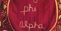 omega phi alpha sugar / ΩΦA sisterhood, fashion, gifts, greek letters, symbols & inspiration. WEBSITE: sororitysugarHQ.com • BLOG: sororitysugar.tumblr.com.
