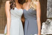 bridesmaid dresses / pin away!  Kate can comment for vetoes approval and we can all chime in on styles and coordinate dresses/colors/prices here <3 ::::::::: dessy colors: cloudy, oyster, quarry, taupe, palomino, frost. NOT- blues other than cloudy ::::::::: Alfred Angelo: smoke, stone, mist, moonlight waltz, charcoal. NOT- powder, bluejay, wedgewood blue, once upon a time. ::::::::: / by Leeann Kuehn