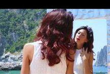 Summer in Capri / New summer advertising and #temporaryshop in #Capri ... #summerincapri #riflessi #shangai #table #mito #mirror #modernmirror