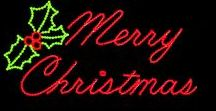 Merry Christmas Lighted Sign / These lighted Merry Christmas signs not only look great, they also help your business attract customers. Get in the holiday spirit and hang one outside your office or outdoors at your home.