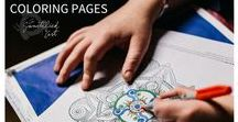 Coloring Pages / Hand drawn and designed coloring pages, designed for spiritual reflection and engagement.