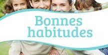 Bonnes habitudes / Bonnes habitudes et comportements alimentaires sains pour les régimes, les allergies, le diabète, la bronchite et l'asthme