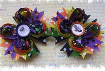 Halloween  / Cute and elegant Hair Bows, stacked and korkers. I will be adding different ones, so come back continiuously.