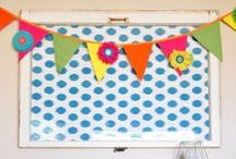 DIY Banners & Pennants / paper and fabric banner, pennants and bunting ideas