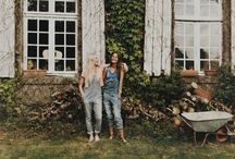 g a r d e n / inspiration // garden / green / cottage / country / trees / fruit / vegetable / veggie / wild flowers / foxgloves / rustic / farm / outdoor / bohemian / kinfolk / by Anne | Inspire Styling