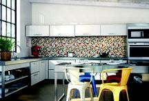 Good looking kitchens / Ideas and inspiration for tiling and styling in modern Kitchens.