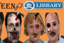 Librarian Zombies! / Happy Halloween, from your friendly, brain-eating DSC librarians O_o