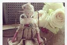 Handmade Fairy Dolls / I sell these gorgeous handmade clay dolls, each one is unique and dressed in vintage & antique textiles and trims... / by Betty and Violet