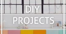 DIY Projects / Inspiration for DIY projects to up the style game of your home and keep the kids (and kids at heart) busy over the weekend.