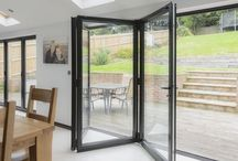 Bifold Doors / Bring the outside in with our aluminium bifold doors. Bifold Doors | Aluminium Bifold Doors | Bifold Door Colours | Bifold Door Ideas | Bifold Doors Kitchen | Bifold Door Blinds | Bifold Doors Onto Patio