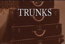 Trunks / trunks, antique trunks, trunk furniture, trunk tables