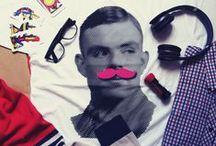 Shop / $25,00 T-Shirt Male version Mustache Turing hipster man girl female http://republicqueen.bigcartel.com/